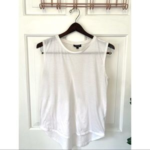 Topshop White Muscle Tee